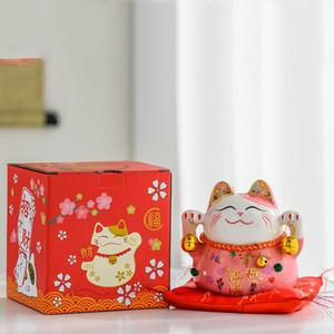 Nouveau céramique 5 pouces chanceux chat décoration magasin d'ouverture cadeau cadeau cadeau personnalisé Creative Tirland Bank for Home Decor Toy cadeau