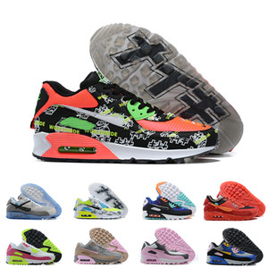 90 Running Shoes Mens Womens Worldwide Viotech UNDFTD Infrared Excee Chlorine Blue Mixtape Sneakers Premium 90s Trainers Size 36-46