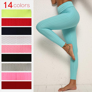 2020 Female Fitness Push Up Legging Sportswear Solid workout Pants Women Running Leggings High Waist Polyester Tights Leggins