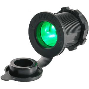 Female Holder 12V 24V Car Cigarette Lighter Socket Car Jack Power Socket Adapter with LED Indicator for Marine Motorcycle