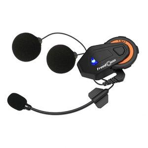 T-Max Motorcycle Helmet Intercom Headset 1500M 6 People Intercom Motorbike Casco Inter Phone Version 4.1 Y1120