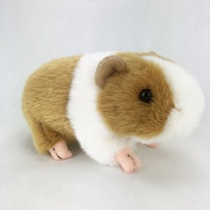 [Funny] Zoo 18cm Simulation Lifelike Guinea Pig Plush Toys Soft mouse Stuffed Animals doll Birthday christmas Gifts for kids
