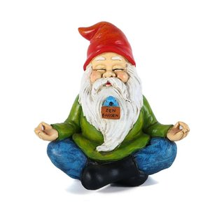 Resina Naughty Garden Gnome Garden Statue Dress Dress Up Decoration Resin Gnome Gnome Ornamento di Natale