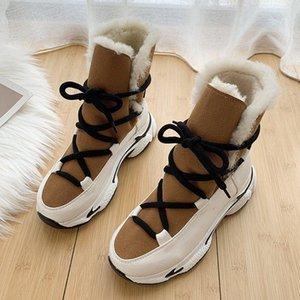 New Winter Women Ankle Boots Women Keep warm Snow Boots Botas Mujer Warm All-match Thick Bottom Plus VelvetWoman Q259