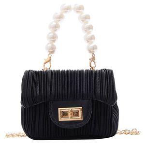 INS pearl kids handbags fashion kids purses Mini girls bags chain kids bags girls shoulder bags girls handbags messenger bag B2816