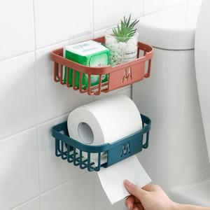 Paper Holder Wall Mount Plastic Toilet Paper Bathroom Toilet Towel Home Storage Rack Shelves Organizer Plastic Living Room