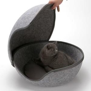 Pet Kedi Yatakları Yuva Kedi Ev Sepeti Topu Pet Mağara Komik Yumurta Tipi Yuva Ev Tüm Sezon Yuvarlak Yavru Delik Rahat Sıcak