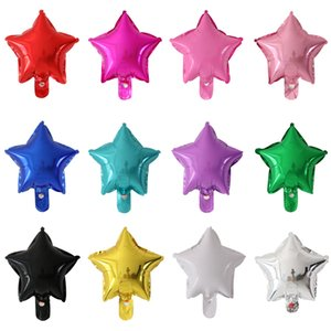 10pcs lot 10inch Star Foil Balloons Wedding Birthday Party Backdrop decoration Air Inflatable Globos baby shower Gifts kids Toy