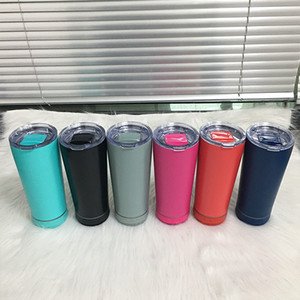 무선 스피커가있는 18 온스 블루투스 음악 텀블러 더블 벽 스테인레스 스틸 크리 에이 티브 와인 텀블러 휴대용 절연 커피 컵 6 색