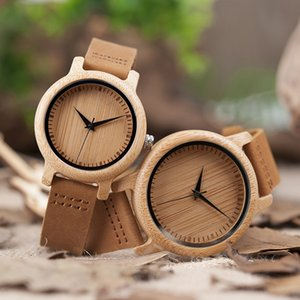BOBO BIRD A09 Ladies Casual Quartz Watches Natural Bamboo Watch Top Brand Unique Watches For Couple in Gift Box Q1201