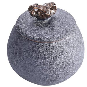 Ceramic Stockage Jar Porte-jeux Vintage Conton Conteneur de stockage créatif pour Restaurant Accueil (Noir)