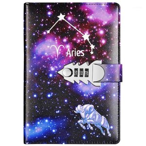 Yakri A5 Size Twelve Constellations Pass Words Diary Book DIY PassWord Notebook TPN1451