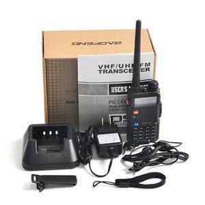 Baofeng UV-5R UV5R Walkie Talkie Banda Dupla 136-174MHz 400-520MHz de duas vias Transceptor de rádio com 1800mAh Fone de ouvido sem bateria pronto para enviar
