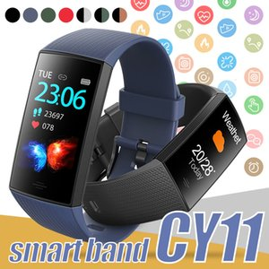 CY11 Fitness Tracker Heart Rate Smart Bracelet Intelligent Colorful LCD Display for Android Cellphone PK ID115 PLUS Y7 M4 in Box