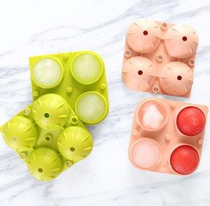 Ice Cubo Maker Ball Mold 4 Grades com uma bola de silicone DIY Formulário de uísque de cocktail para cubos de gelo Cream creme ferramenta de cozinha DHF3352