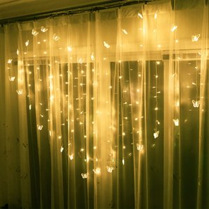 LED Love Heart Colorful Lamp Festival Window Curtains Icicle Decoration Lights String Room Copper Wire Flash Lights 22xc L1