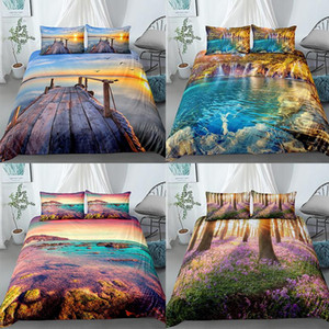 Landscape Mountain Duvet Cover Sets Beding Set Bedspread 2 3pcs Queen King Large Size Home Textlie