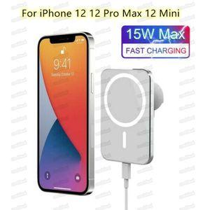 Chargeur de voiture sans fil Magsafe pour iPhone 12 Mini Pro Max 15W Charger sans fil magnétique Téléphones mobiles adaptés à la certification QI Free DHL