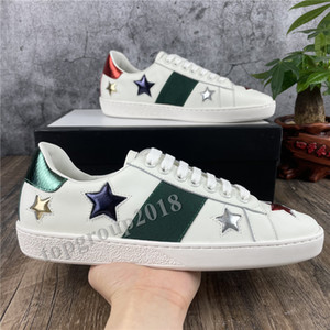 Tendance Hommes Femmes Casual Chaussures Baskers Jolies Chaussures Ace Broderie Bee Tiger Snake Stars Casual Scarpe Plat Trappe unisexe