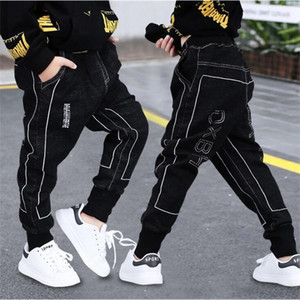 Fashion boys jeans children Black Haren pants kids Spring and Autumn Hip hop Dance casual trousers boys jeans 6 8 10 12 14 Years LJ201017
