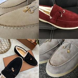 Viisenantin Flats Ladies Slip on Wool Comfort Suela de goma Suela de conducción Invierno Tassel Zapato ocasional Lanzadores perezosos MUJER Q1207