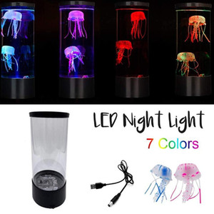 2020 NEW The Hypnoti Jellyfish Aquarium Seven Color Led Ocean lantern Light Smart Bathroom Tools & Home Improvement gift