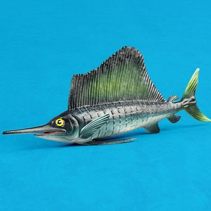 Underwater World Fish Figures Toys Realistic Small Big Size Swordfish Models Sea Life Children Cognitive Toys Solid Plastic Toy