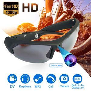 Mini Polarizer Smart Sunglasses Cámara 1080p Bluetooth multifuncional Bluetooth MP3 Player Deportes DV grabadora de videos 201203