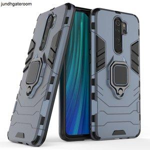 Telefone Custom Metal TPU Anel Holder Magnetic PC Cover para Xiaomi Redmi Nota 8 Pro Case Voltar