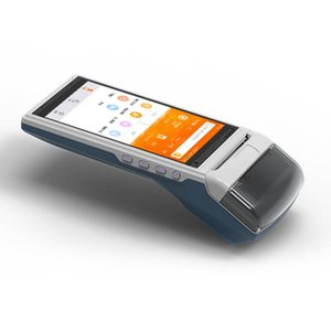 Android 5.1 handheld NFC mobile payment terminal built in printer camera scanner WIFI 3G USB SIM card slot ZKC5501