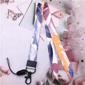 Mobile Phone Straps Cute Girl Colorful Graffiti Diy Metal Clip Hanging Neck Rope Lanyard Neck Strap Lanyards For Keys Id Card H sqcbzR