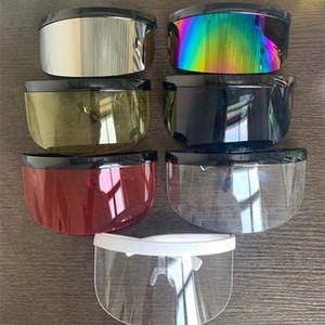 Factory 2020 Femmes Femmes Protection Soleil Sun Sunglasses surdimensionnés Sunglasses à moitié visage Masque Masques de fête 11 Style HHA1540