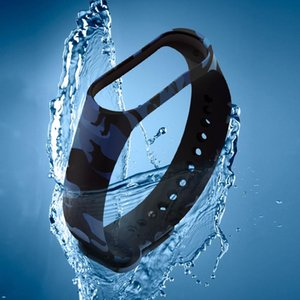 SPORT EDITION STRUP ECO Friendly Silicon Camuflaje Reemplazo de la banda de la muñeca Pulsera para M4 Smart Bracele Fitness Equipment WMTXWK