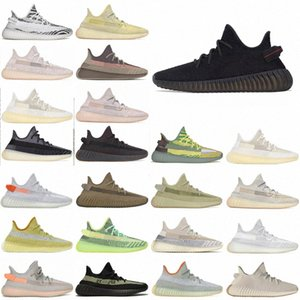Хвостовой светло-цилиндр Светоотражающий Kanye West Men Женские Обувь Yecheil Zebra Blue Tint Статическая пустыня мудрец Земля Спорт Открытый Shoe36G3 #