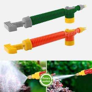 Tubi flessibili da giardino 1PC Carrello regolabile Gun ugello annaffiatoio spray spruzzatore testa con congiunta Manuale della pompa dell'aria ad alta pressione