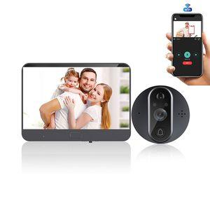 Usvision Tuya Smart Video Doorbell 1MP 720P WIFI Peephole 64GB TF Card StorageFisheye Camera Two Way Audio PIR Motion Detection Doorbell