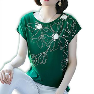 Cotton Summer Blouses Print Batwing Sleeve Shirts For Womens Tops Shirts Plus Size Women Clothing Korean 2020 Spring New Blusas