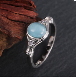 Women's ring European and American 925 new design diamond inlaid gemstone high-grade boutique hot selling women's ring NO76#