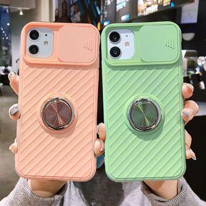 Slide Camera Protection Case per iPhone 12 SE 2020 11 11Pro Max XR XS Max x 8 7 6 6S Plus 11Pro ANELLO A GUARDO ANELLO ASCORSO