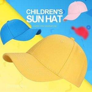 Cotton children's 54 size middle children's outdoor leisure fashion sun hat yellow baseball cap baseball cap hat