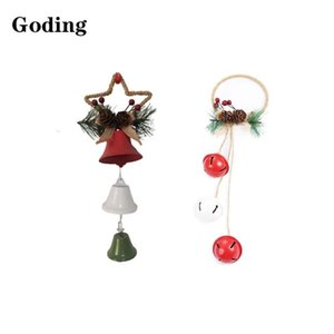 Christmas Tree Creative Combination Red Green White Bells Iron Material Craft Pendant XMAS Decoration FestivalDress Up Supplies