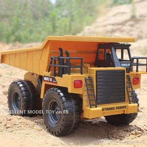 HN540 6 canali RC RC Dump Truck Autocarro ribaltabile Giocattolo ribaltabile, Diecast Lega 1:16 Big-size, Veicolo di ingegneria, Luce di svolta, Regalo di compleanno del bambino di Natale, 2-2