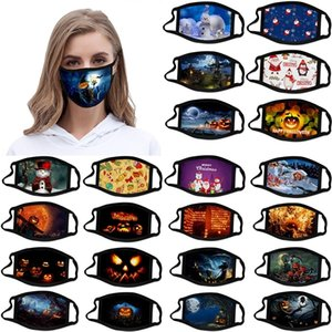 adulto personalizado Halloween niño Mascar Navidad Decoraciones de la Navidad Máscaras Mascherina Designer Cotton Máscara Reutilizable Facenas Sup
