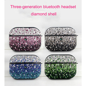 For airpods pro case new designers glass diamond glitter wireless bluetooth headphone cover for airpods case earphone cases retail package