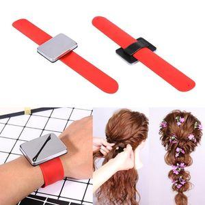 2020 Professionelle Salon Magnetic Armband Handgelenk Band Strap Gürtel Haar Clip Halter Haarschmuck Friseur Friseur