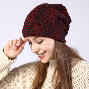 Knit Slouchy Skull Cap Beanie Knit grid Winter Beanie Hats Ear cuff Cable for women Fashion will and sandy drop ship