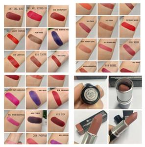 Stock 48 Colección Colección Matte Lipstick Rouge à lèvres Antiguo Velvet Rocker 4EVA Peligro Lustre Lipstick Retro + Sweet Oll Top Calidad