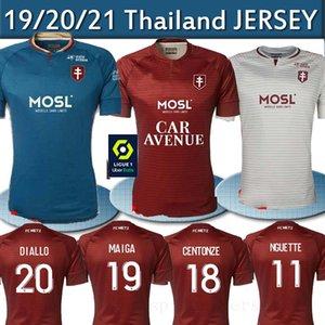 20 21 FC Metz Soccer Jerseys Diallo 20 Centonze 18 Vagner 27 Niane 7 Fofana 6 Inicio 2020 2021 Jersey Camisetas de fútbol Tailandia Top