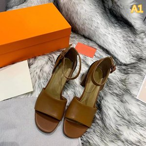 New top luxury designer style leather sandals summer women's peep toe sandals bride party shoes size 35-41 with box
