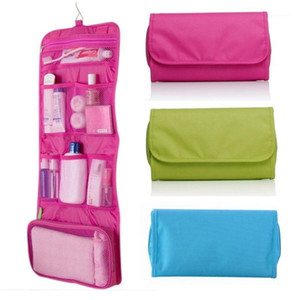 Womens Ladies Travel Toiletry Folding Hanging Wash Cosmetic Makeup Storage Bag Portable Organizer For Outdoor Camping1
